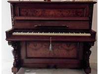 PIANOFORTE VERTICALE ROSENKRANZ FINE 800 NOCE RADICA RESTAURATO