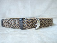 BRIONI CINTURA BELT N151 COCCODRILLO FIANCO BELT GENUINE CROCODILE COLOUR PURPLE DOLPHIN