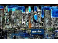 STAMPA FOTOGRAFICA FOTO DIGITAL ART AMSTERDAM 70x40 CM URBAN STYLE CITY LANDSCAPE